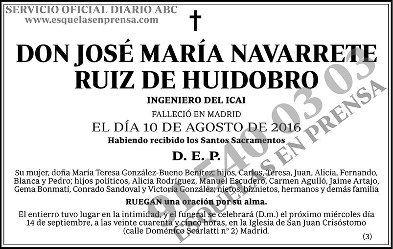 José María Navarrete Ruiz de Huidobro